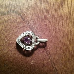 Jewelry - Charm or pendant Silver with Amethyst